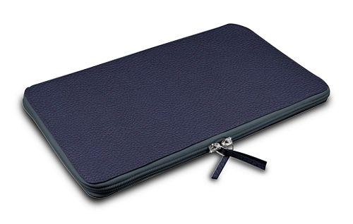 Calfskin zip-up laptop bag for MacBook Air 13 inch Retina Display