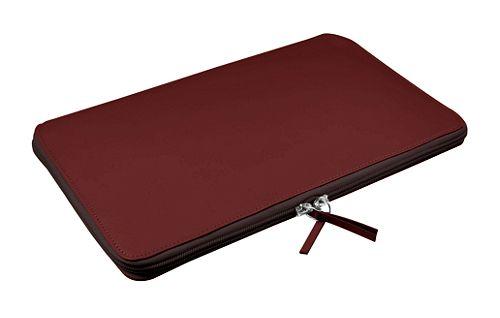 Calfskin zip-up laptop bag for MacBook Air 11 inch