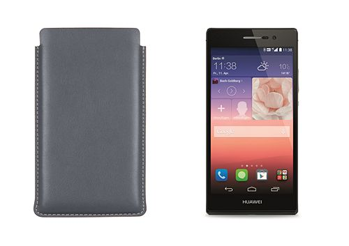 Case with pull-up strap for Huawei Ascend P7