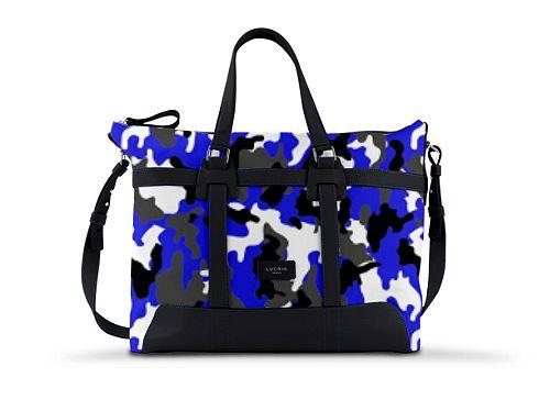 Carry-on bag - Royal Blue-Black - Camouflage