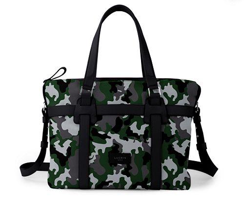Shopper bag - Light Green-Black - Camouflage