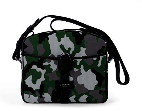 Small Messenger Bag - Light Green-Black - Camouflage