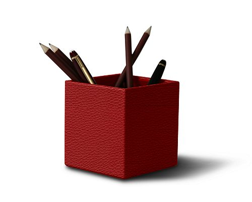 Wooden Squared pen holder