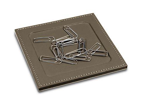 Support trombones en cuir à coins carrés