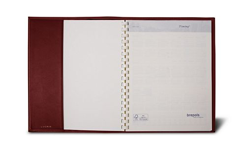 Week-to-week Desk Diary - Burgundy - Smooth Leather