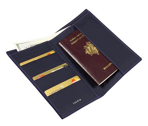 Porte billets, cartes et passeport format international