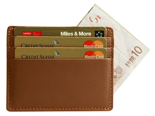 Estuche de bolsillo para tarjetas de crédito y billetes