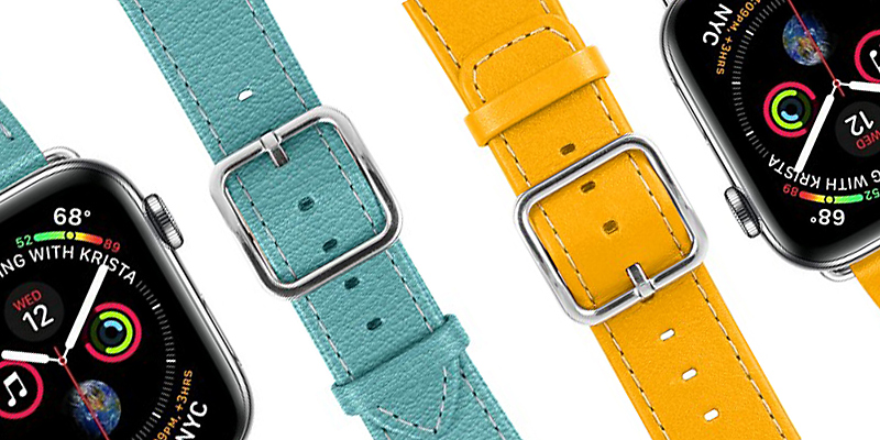 Leather watch strap for Apple Watch Series 4 - 44 mm