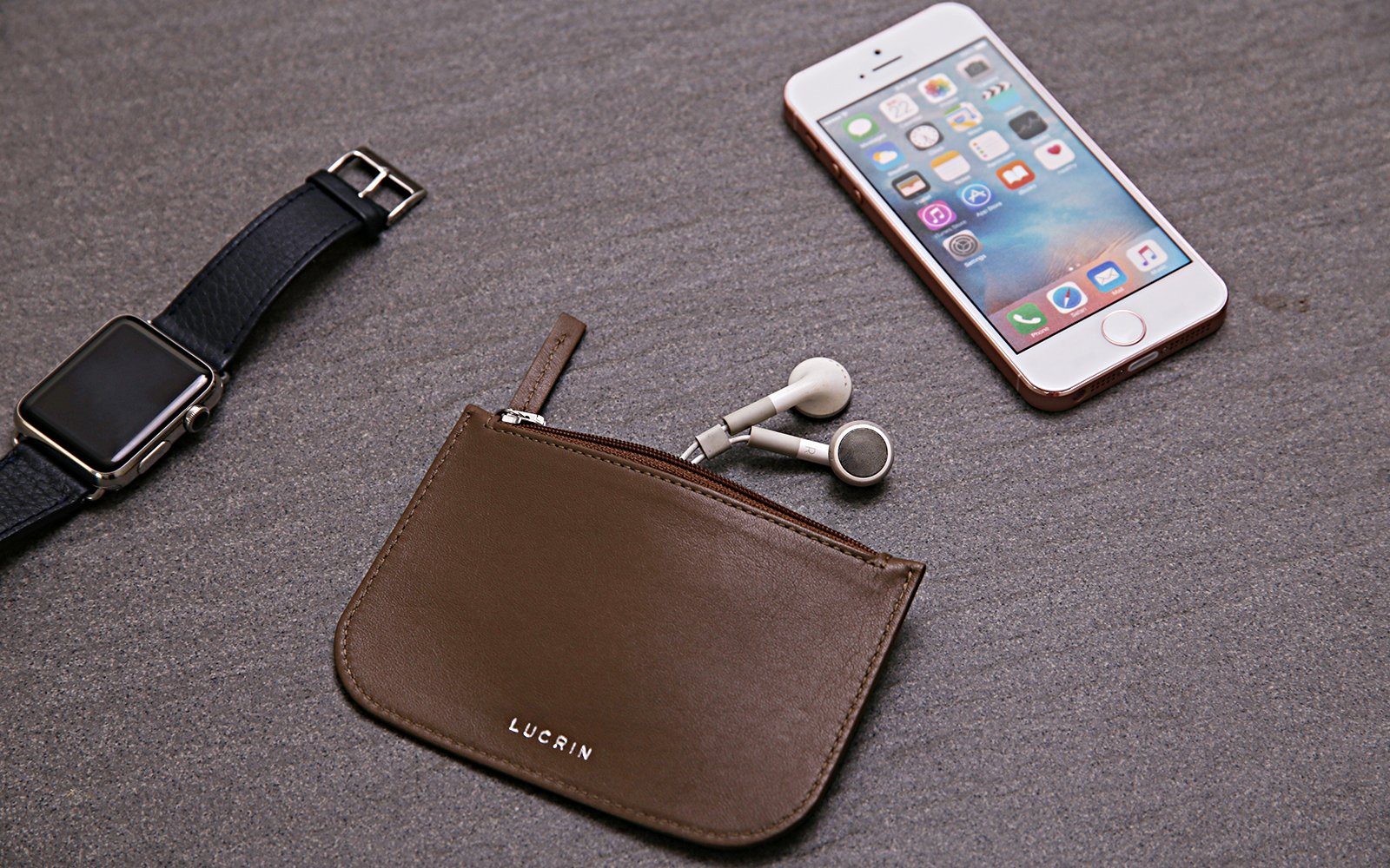 Case with zipper for earphones