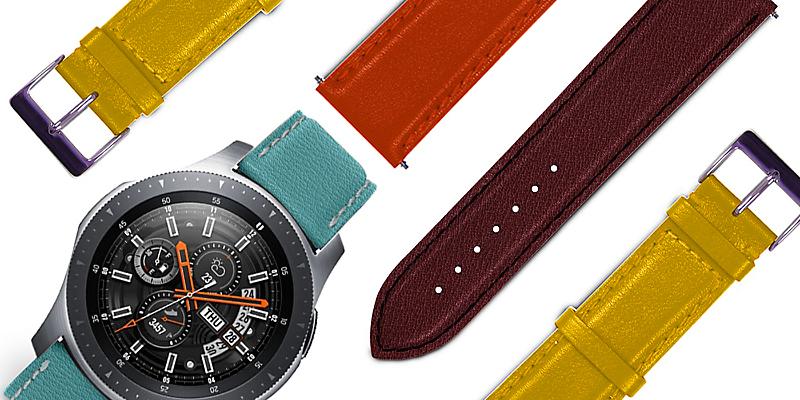 82f4823386d2 Estas correas de cuero para relojes de pulsera se entregan con dos  lengüetas insertadas por defecto en el brazalete que facilitan la tarea.  Vi... Cargando.
