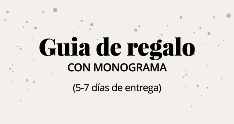 Guia de regalo con monograma (5-7 días de entrega)