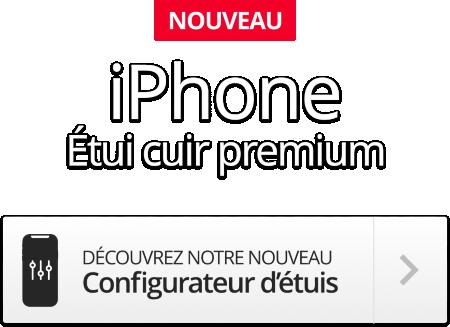 Nouveau iPhone - Étui cuir premium