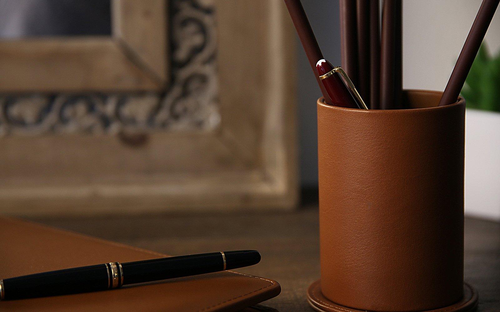 Pot à stylo rond