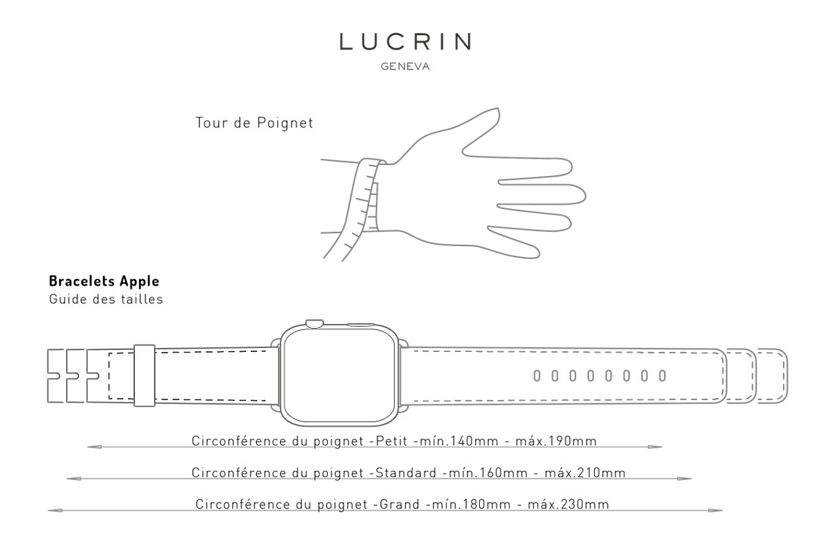 Guide des tailles bracelet Apple Watch