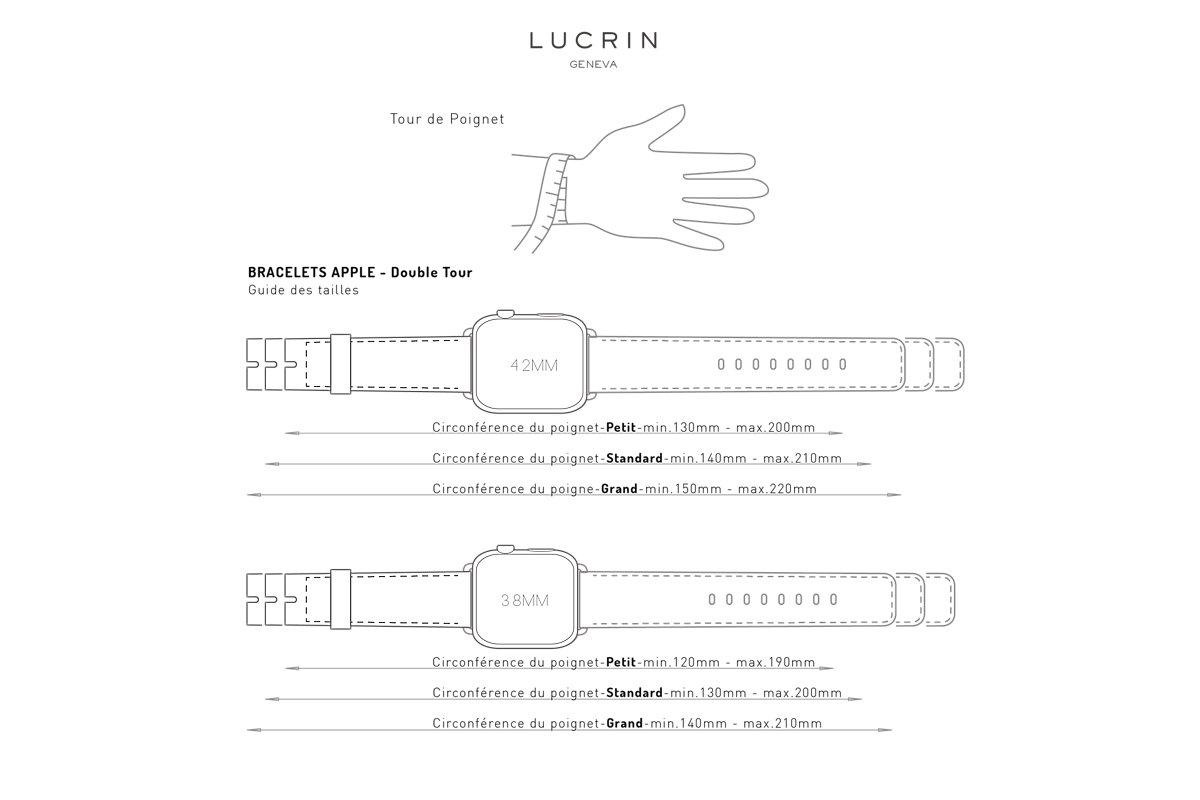 Guide des tailles bracelet Apple Watch