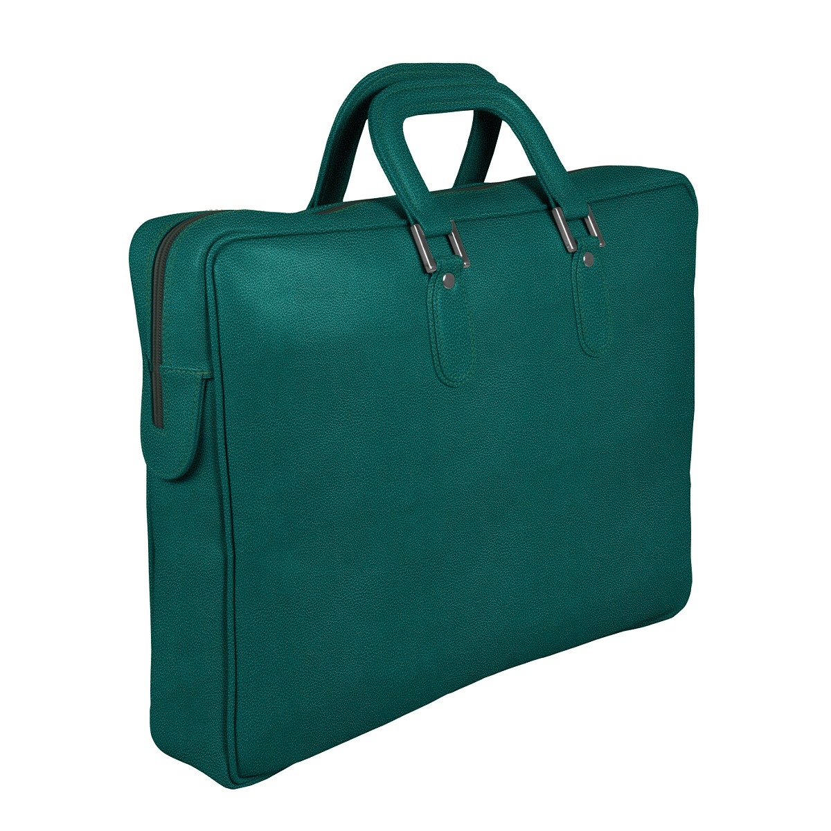 Briefcase with zipper