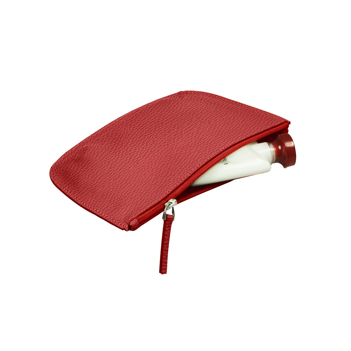 Rounded zippered flat case
