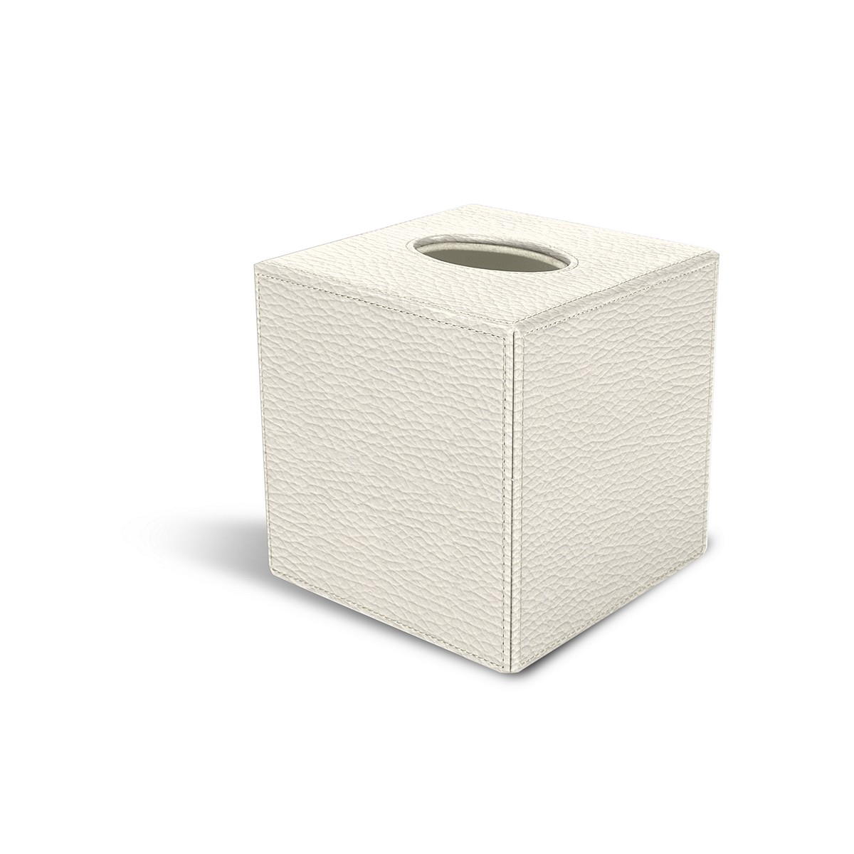 Squared tissue box holder
