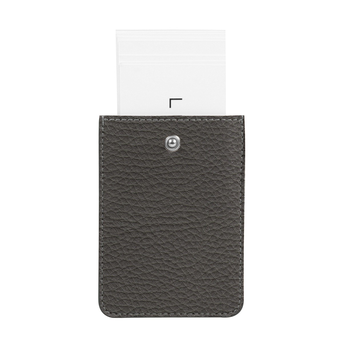 Business card holder with tab closure