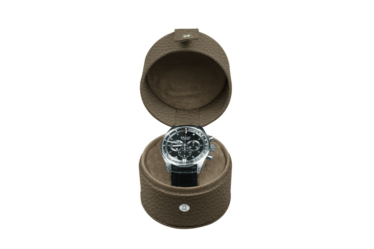 Round watch box