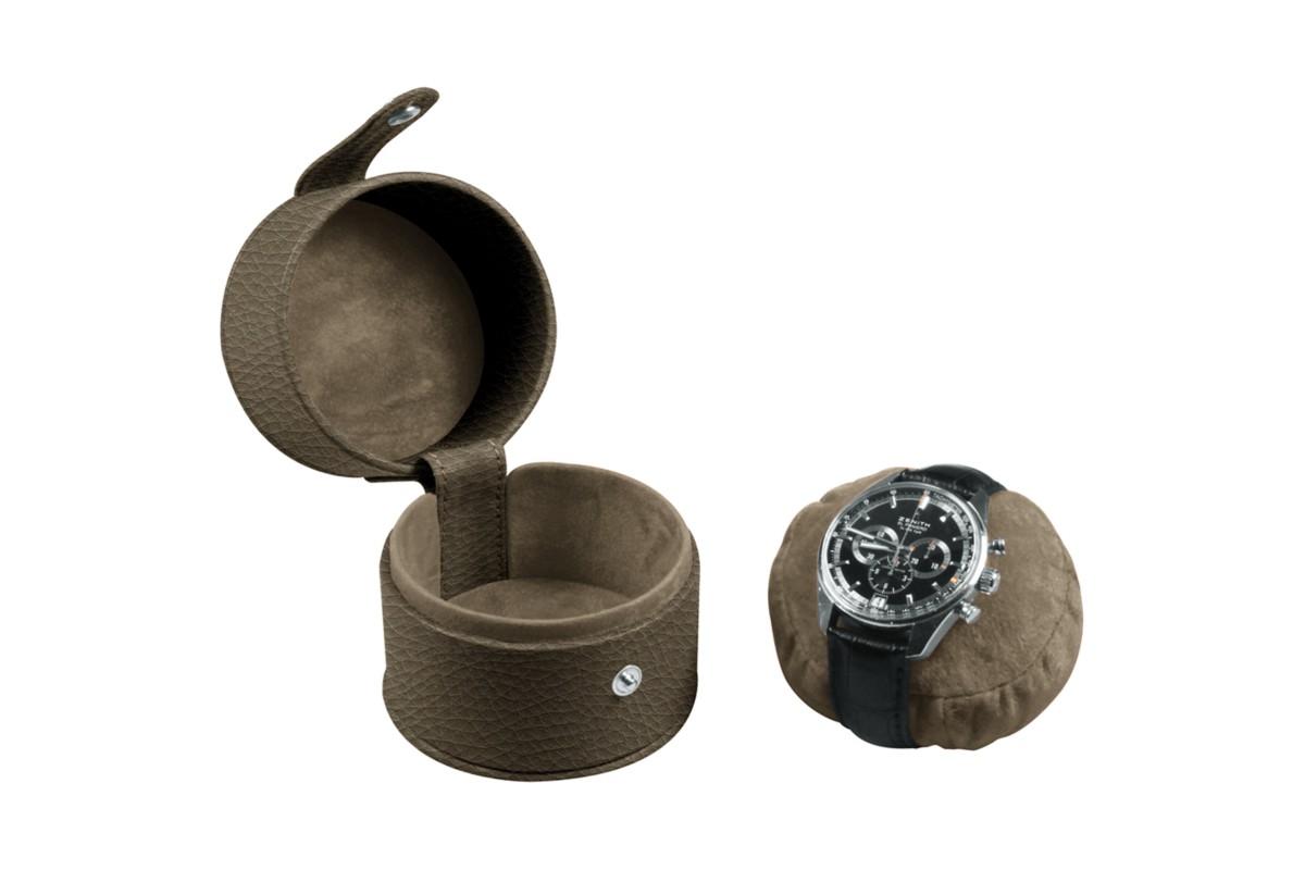 Round watch box