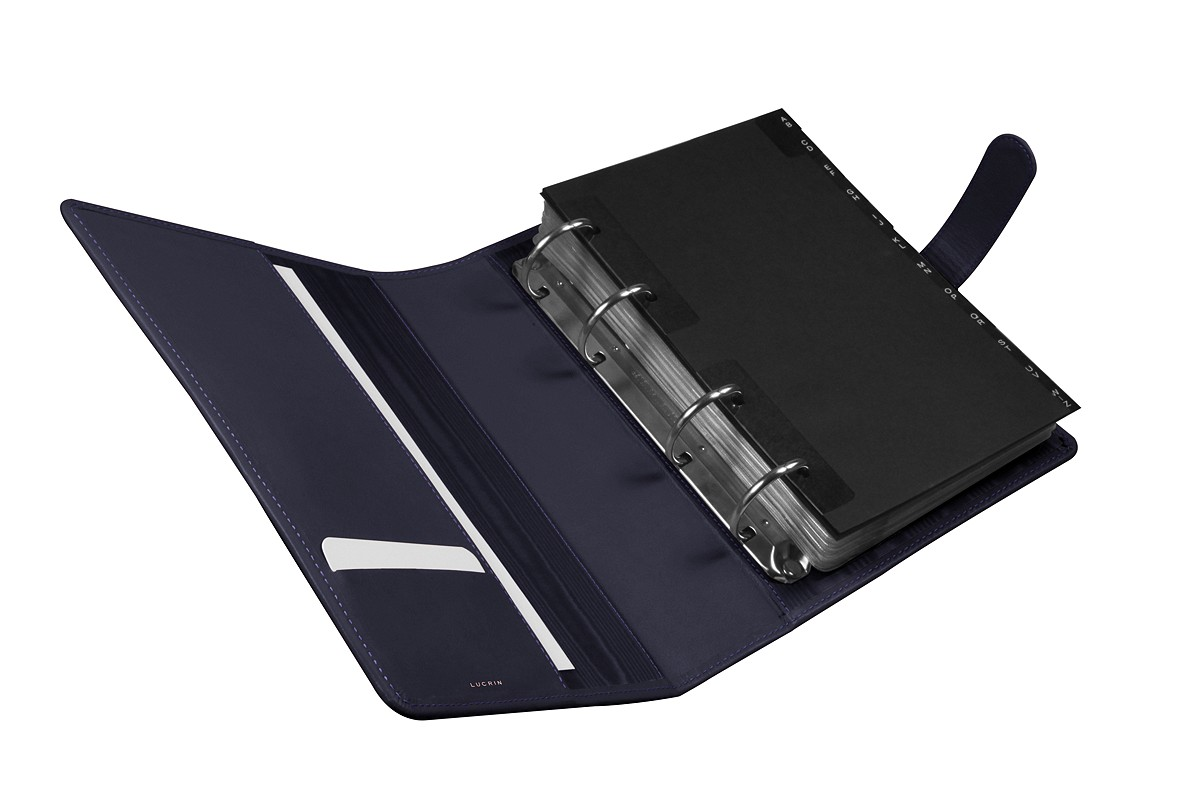 A5 binder for business cards
