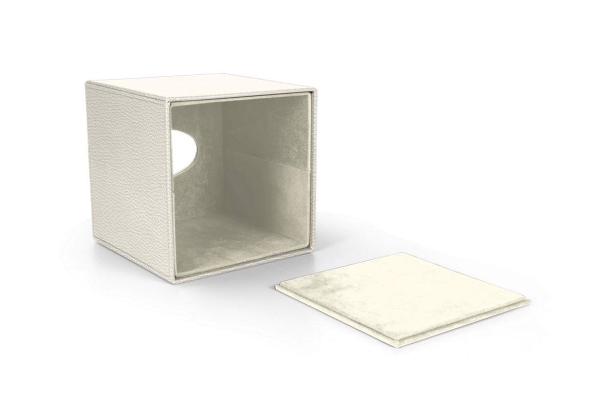 Squared tissue box holder