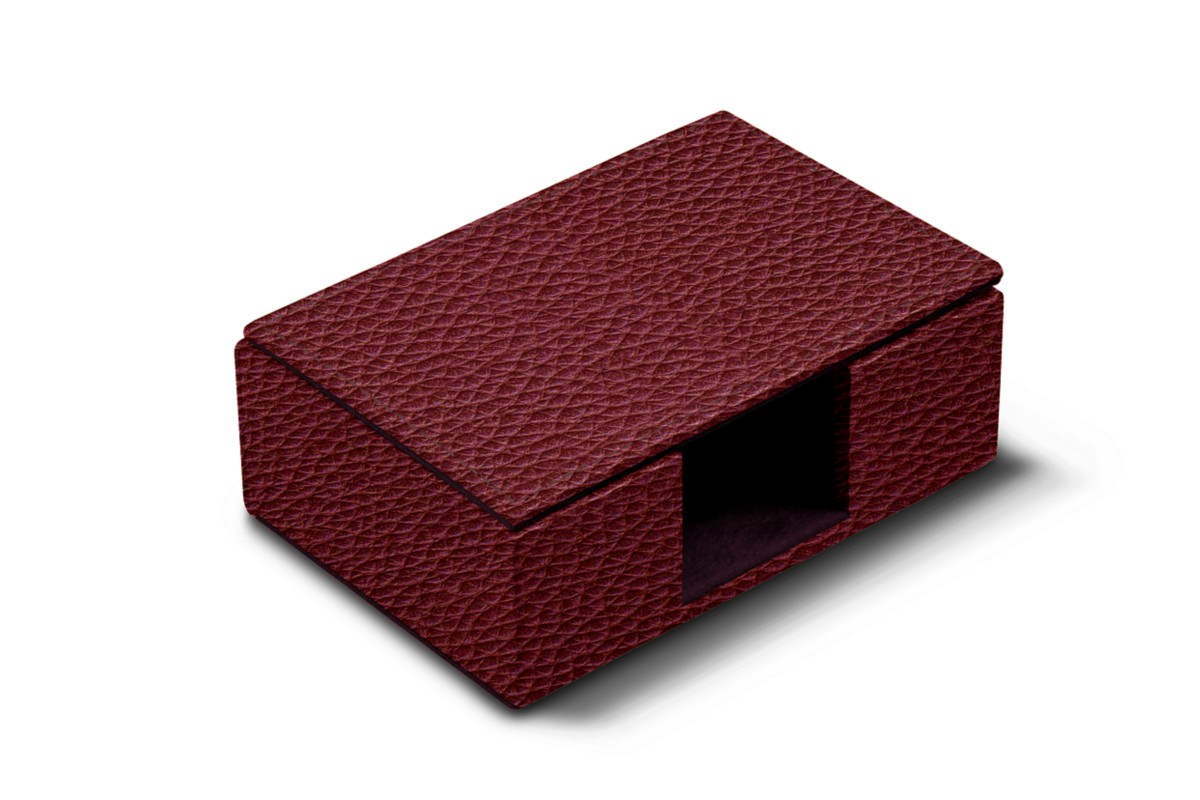 Box with notch for business cards