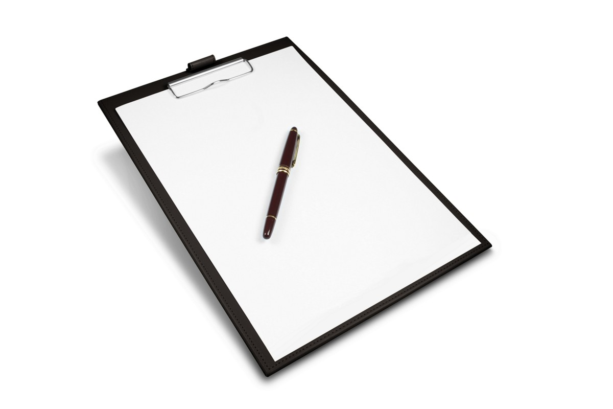 A4 clipboard with notepad