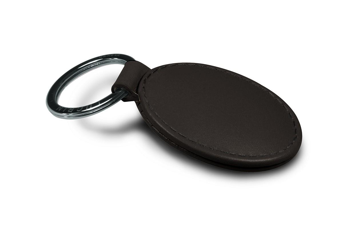 Oval-shaped key ring