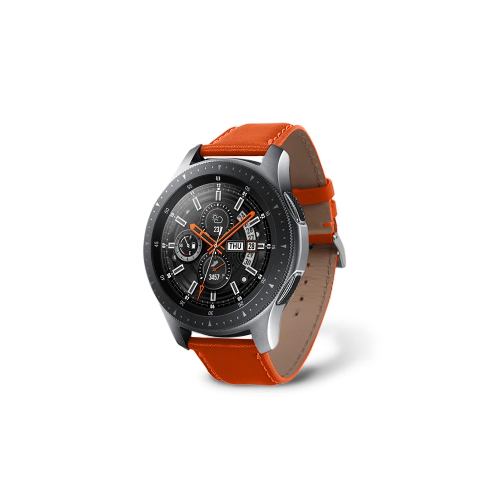 Correa para reloj Samsung Galaxy 46mm Naranja - Piel Liso Correa para reloj  Samsung Galaxy 46mm Naranja - Piel Liso a4a81440be3