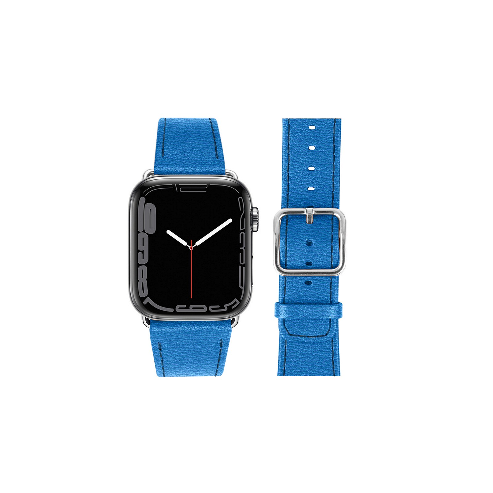 9c9ec407476f Correa de cuero para Apple Watch Series 4 - (44 mm) Cielo Azul - Correa de  cuero para Apple Watch Series 4 - (44 mm) Cielo Azul - 