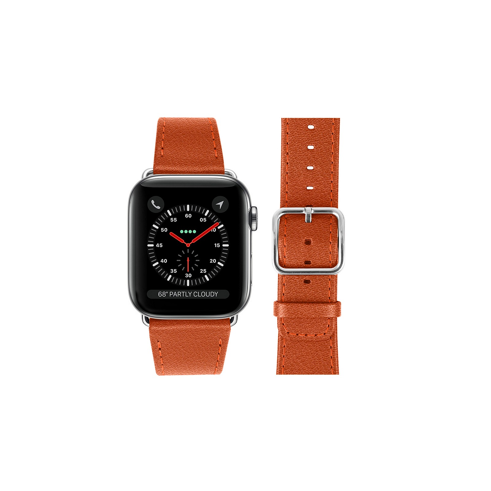 b08ad2be8 Apple watch band 42 mm Orange - Goat Leather Apple watch band 42 mm Orange  - Goat Leather 