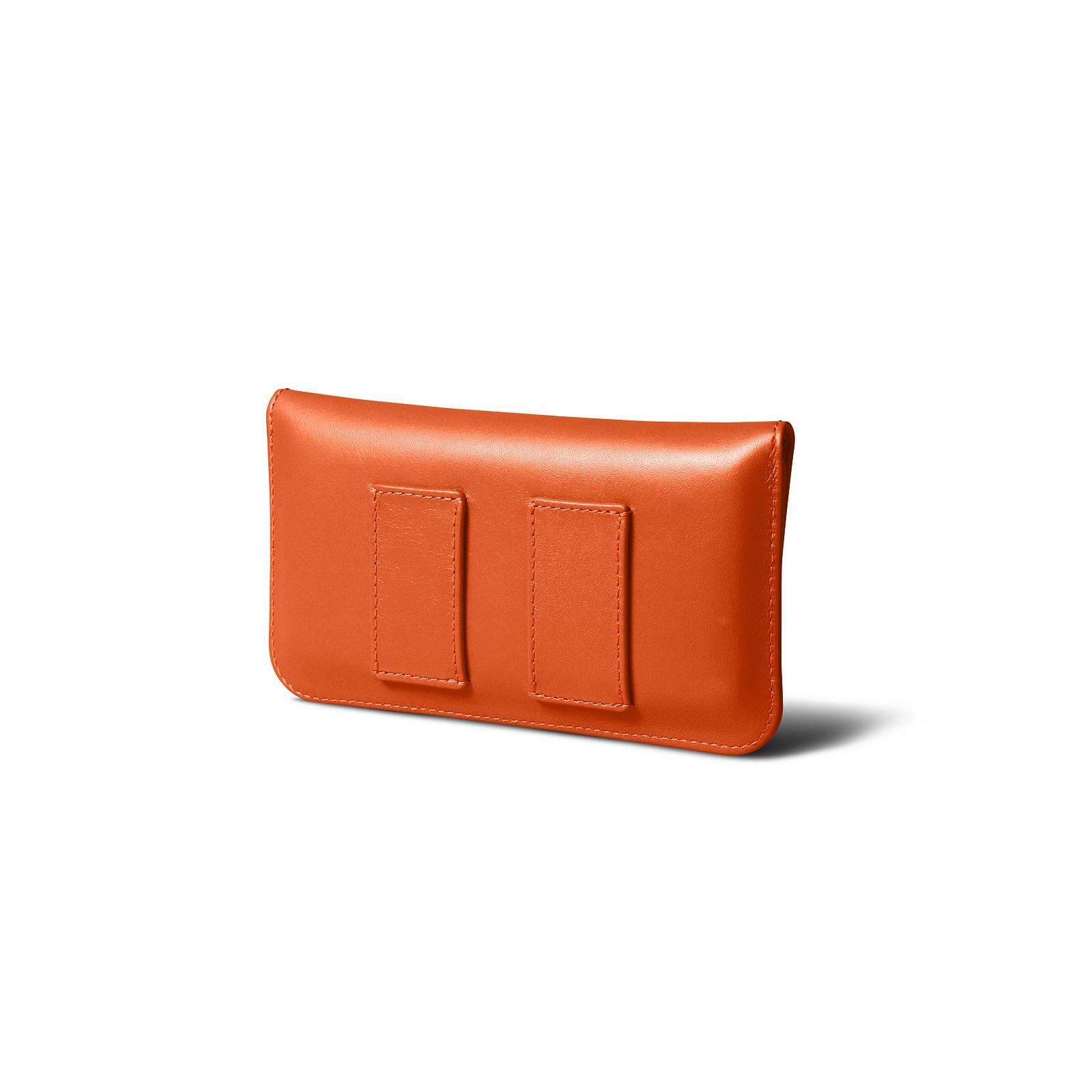 b88c5fd31c Custodia da cintura per iPhone X Arancione - Pelle Liscia Custodia da  cintura per iPhone X Arancione - Pelle Liscia  play_circle_outline