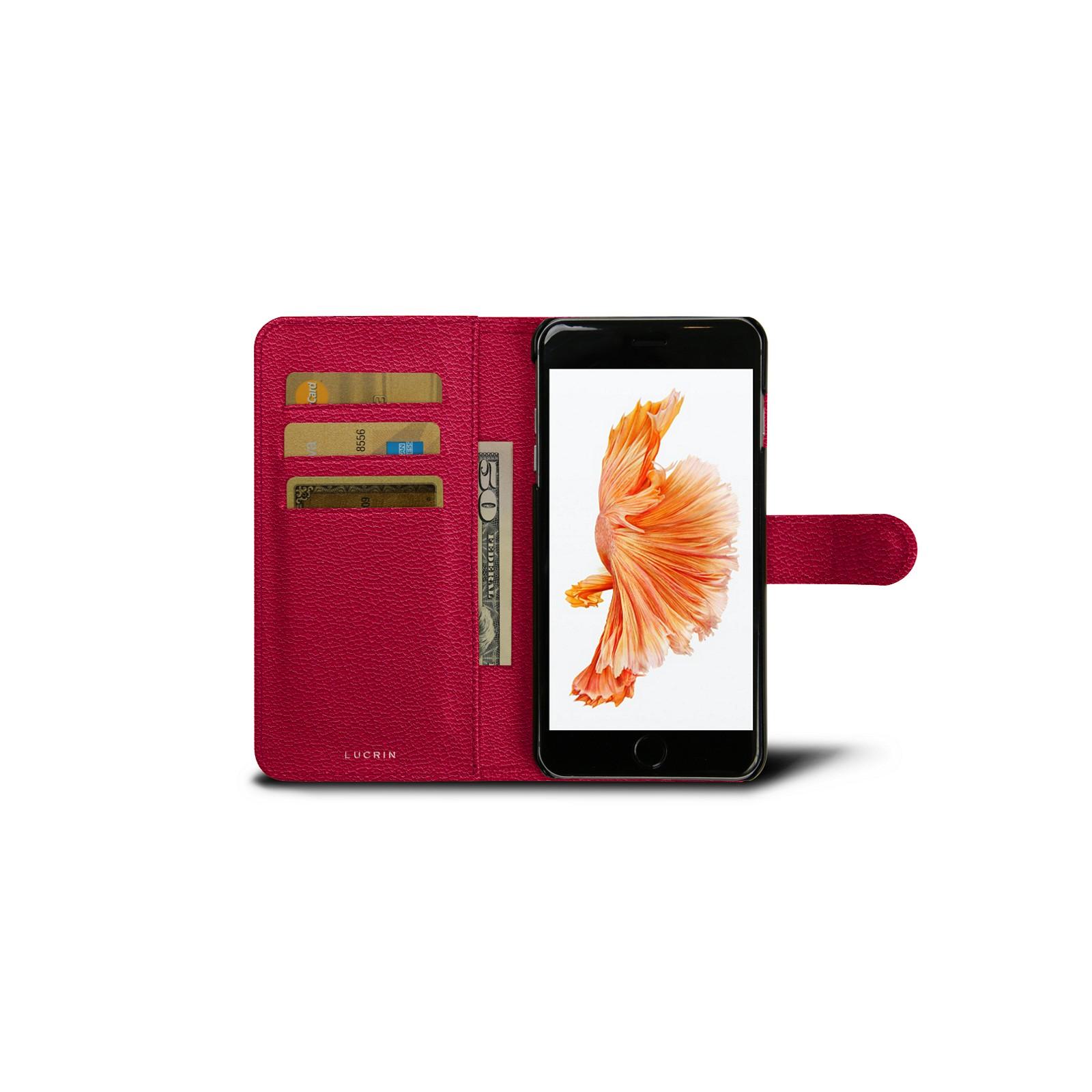 feeb8fb8d17 Funda tipo cartera para iPhone 6/6s Plus Fuchsia - Piel de Cabra Funda tipo cartera  para iPhone 6/6s Plus Fuchsia - Piel de Cabra 
