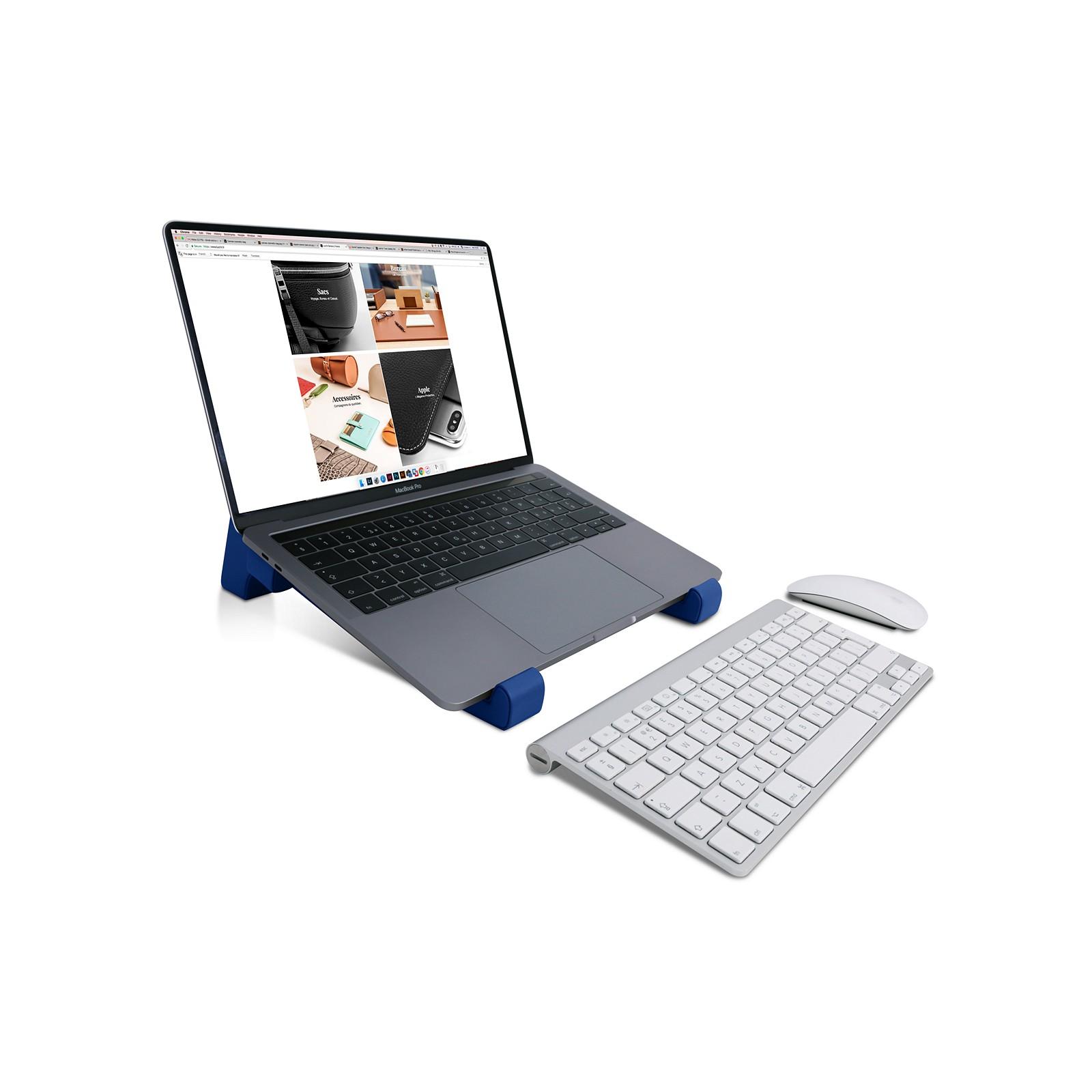 9723f05960 Supporto per laptop Blu Reale - Pelle Liscia Supporto per laptop Blu Reale  - Pelle Liscia 