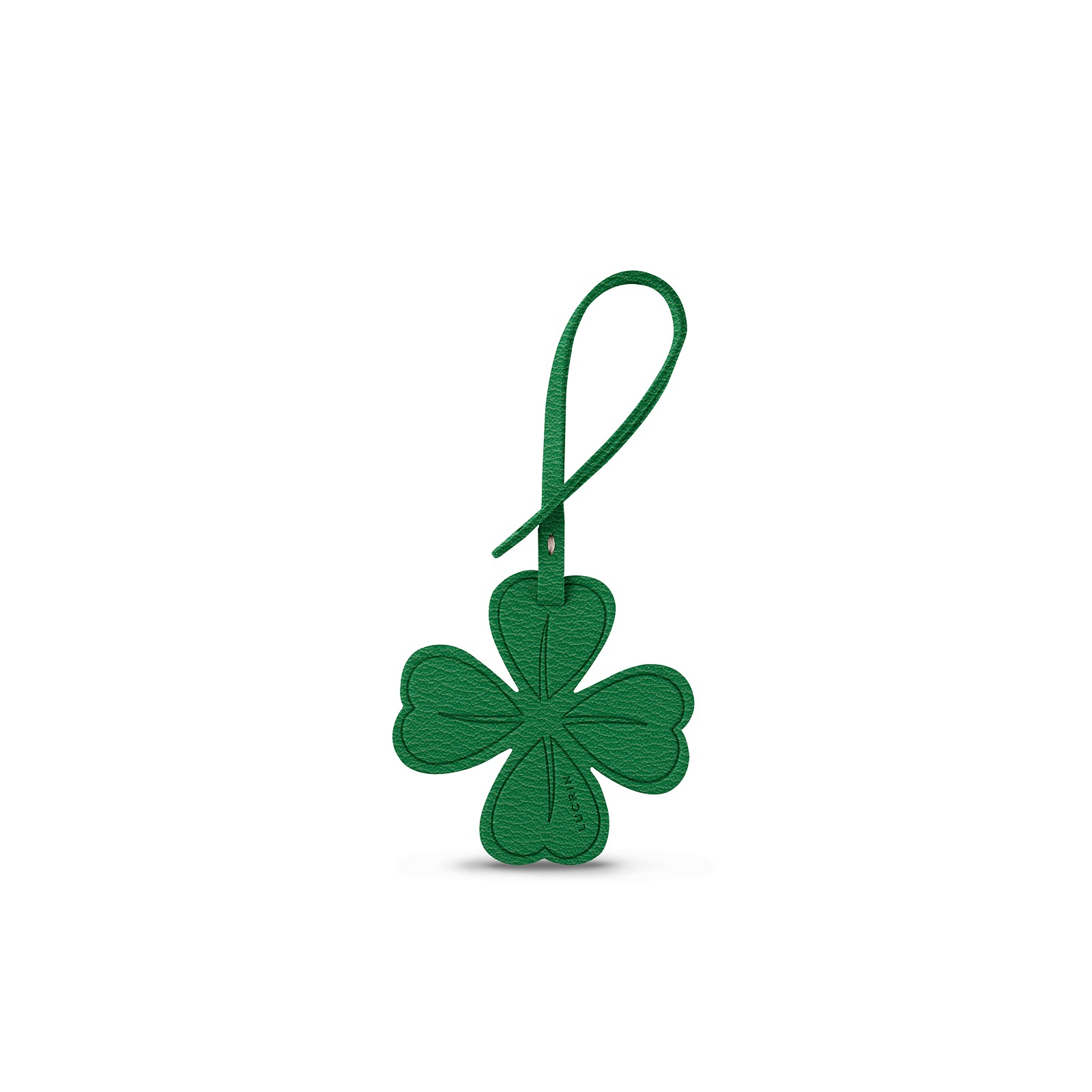 Four Leaf Clover Lucky Charm In Leather