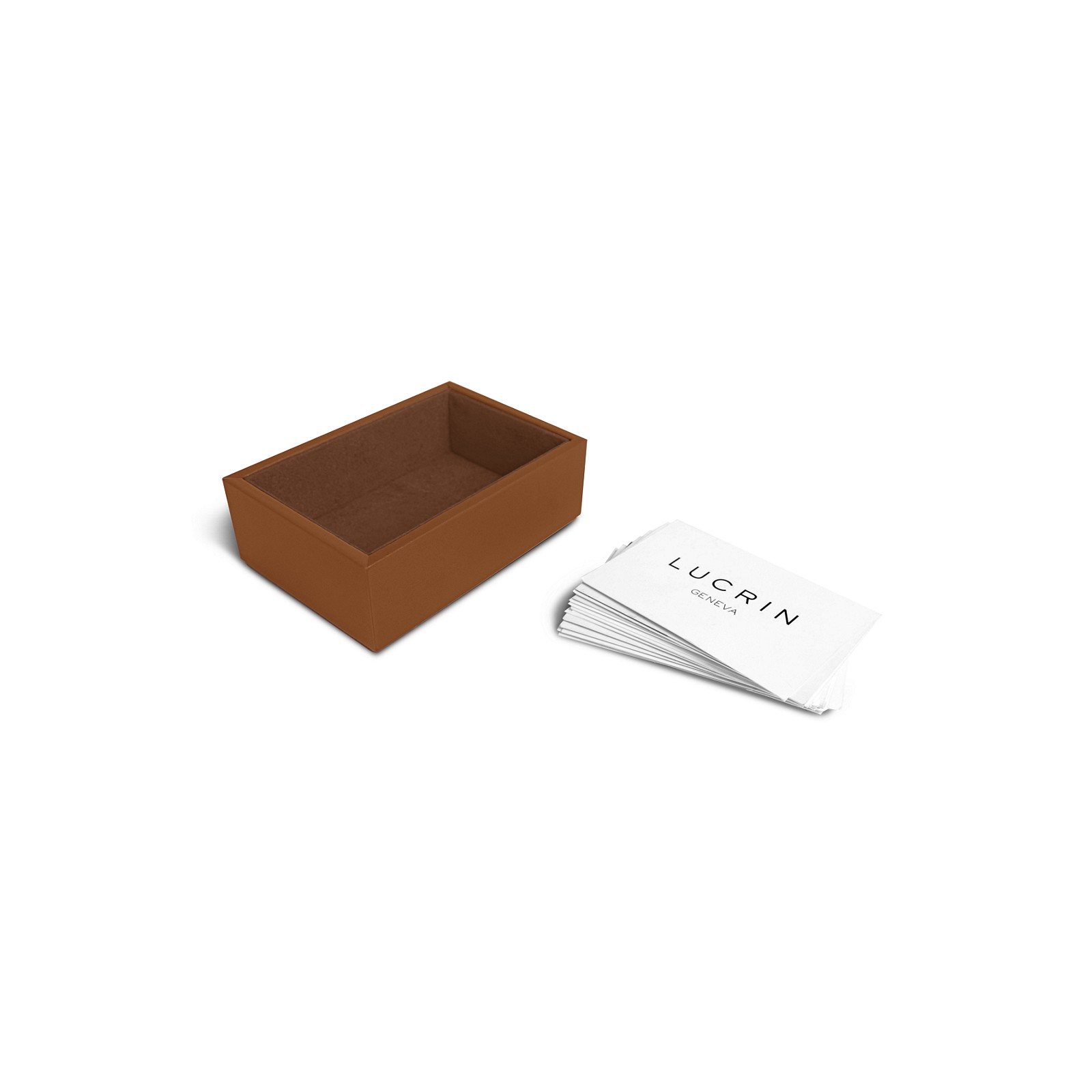 Business cards leather box