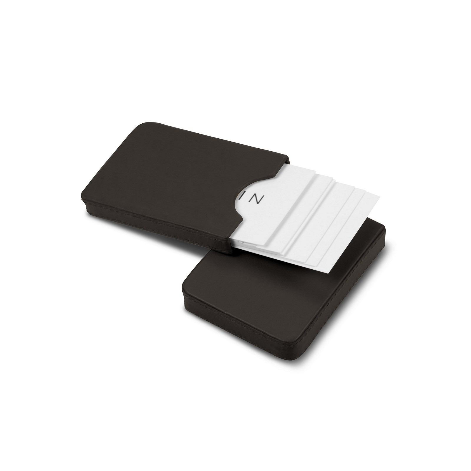 Leather Sliding two-parts case for business cards