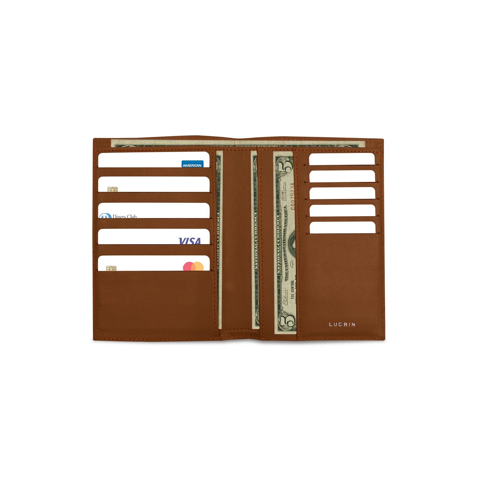 c5cda0fbbb Portafoglio e portacarte di credito Tan - Pelle Liscia Portafoglio e  portacarte di credito Tan - Pelle Liscia 