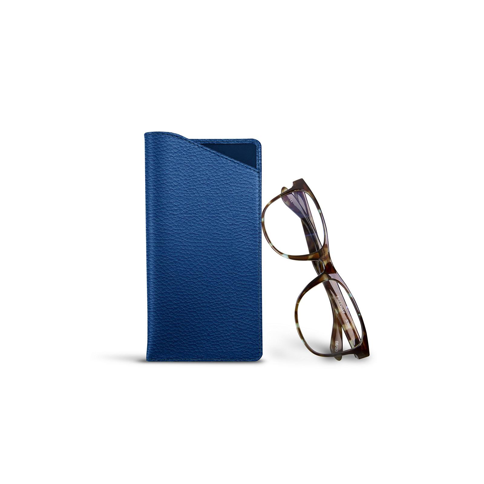 55ecdbb91b Estuche para gafas tamaño estándar Cielo Azul - Piel Grano Estuche para  gafas tamaño estándar Cielo Azul - Piel Grano 