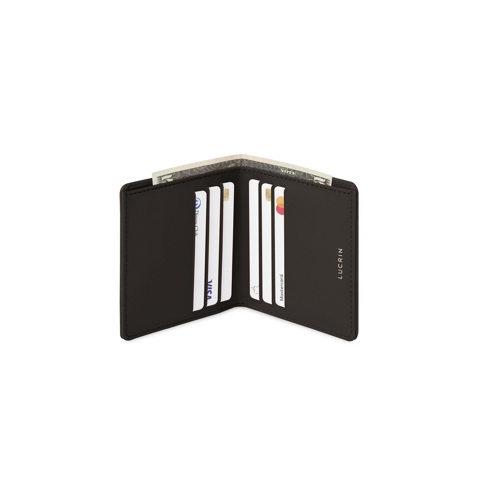 f28eb5f33 Billetera delgada para hombres Marrón oscuro - Piel Liso Billetera delgada  para hombres Marrón oscuro - Piel Liso 
