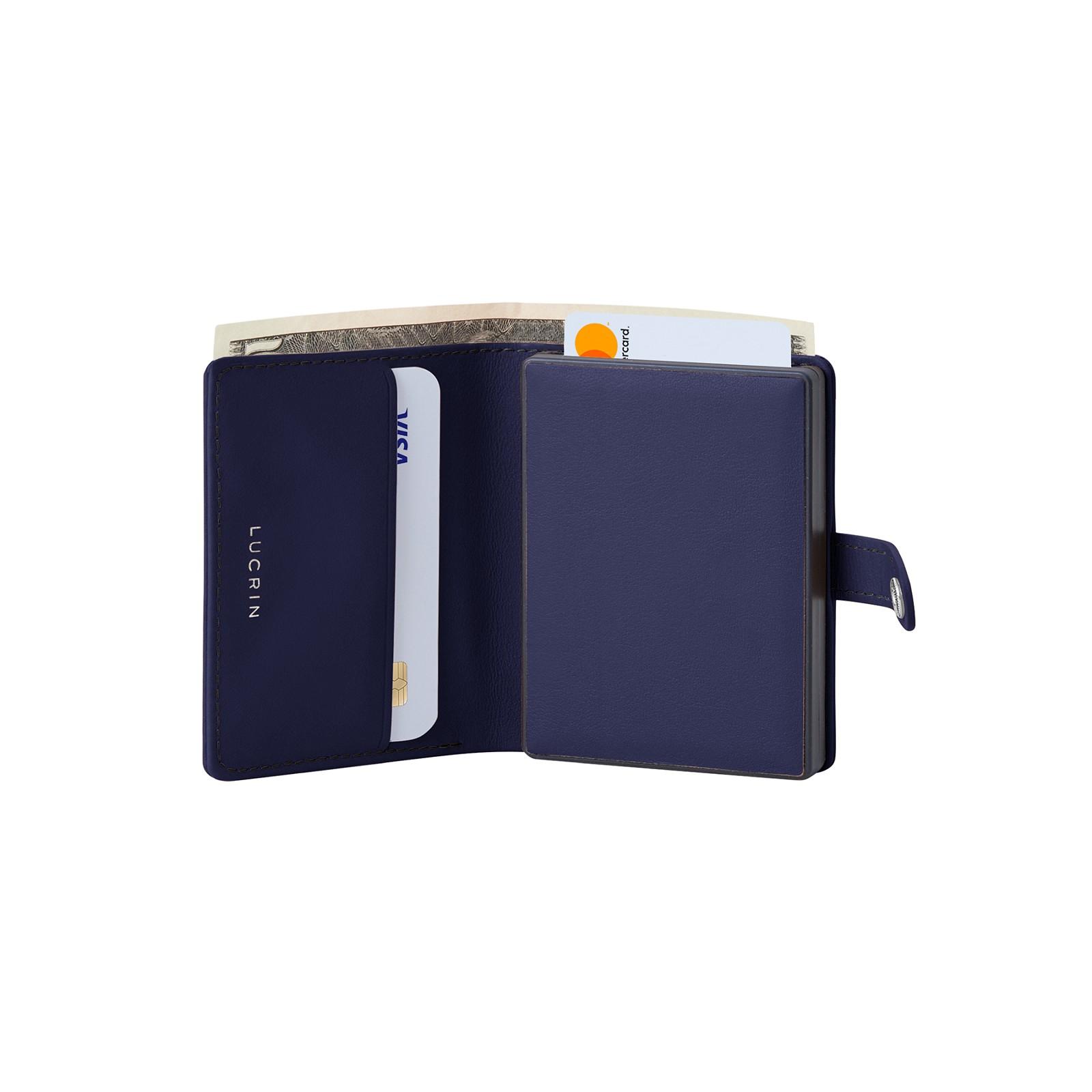 959140b312 Portafoglio compatto anti-RFID Blu Navy - Pelle Liscia Portafoglio compatto  anti-RFID Blu Navy - Pelle Liscia 