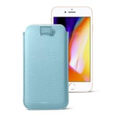 24c2cb896f3 Funda para iPhone 8 con lengüeta para tirar en cuero