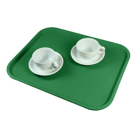 Serving Tray (17.7 x 13.8 inches) - Light Green - Smooth Leather