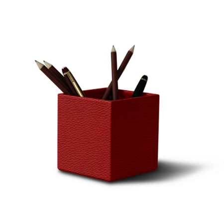 Wooden Squared pen holder