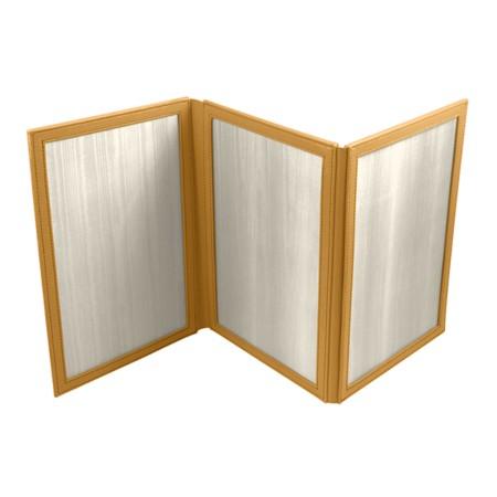 Cadre photos cuir 3 volets vertical