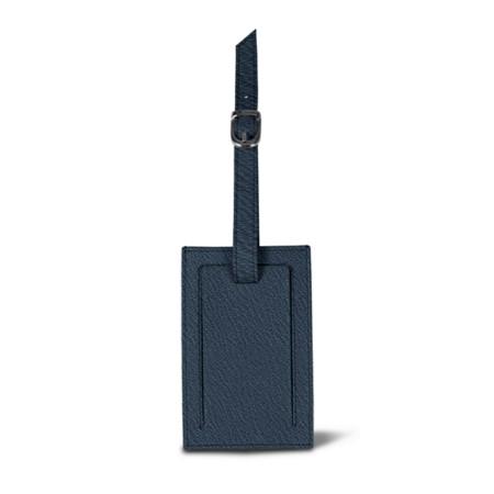 Bag Tag - Navy Blue - Goat Leather