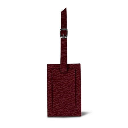 Luggage tag - Burgundy - Granulated Leather