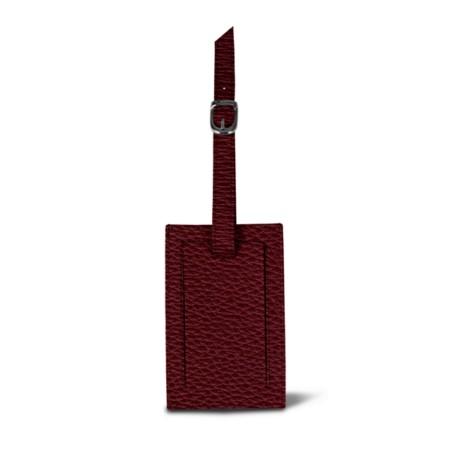 Bag Tag - Burgundy - Granulated Leather